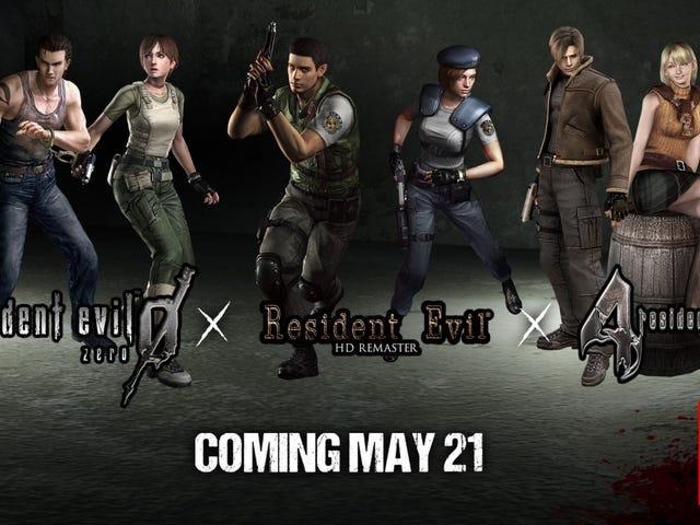 <i>Resident Evil 1</i> , <i>4</i> , et <i>0</i> sont sur le point de basculer le 21 mai