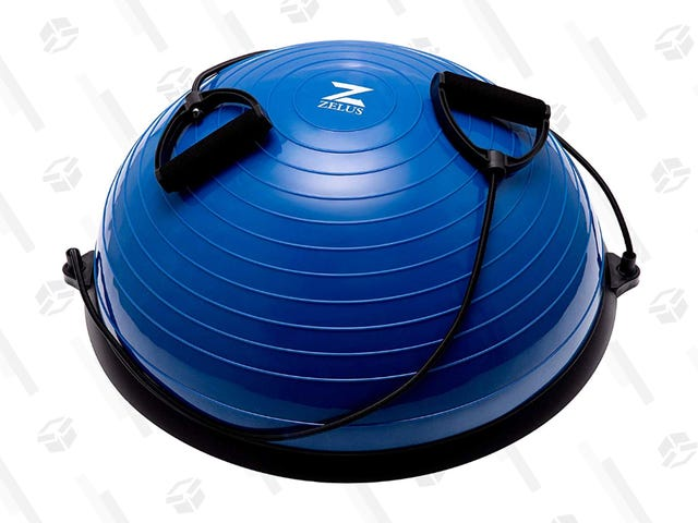 Stick to Your New Year's Resolution When You Get This $48 Balance Ball With Resistance Bands