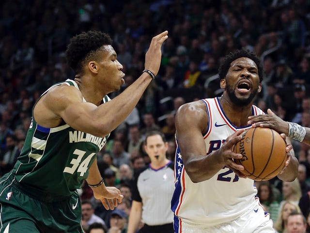 Giannis And Embiid, Just A Couple Of Giant Space Monsters Smashing Everyone Else Into Hell