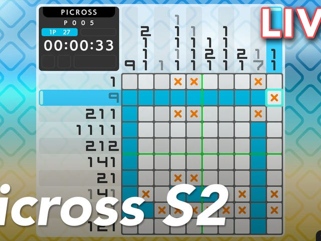 We're streaming Switch puzzle game Picross S2 live on Twitch