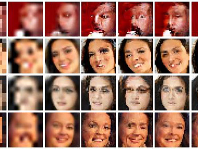 Google Brain Cleans Up Low-Res Photos by Turning Everyone Into a Glitched Out Monster