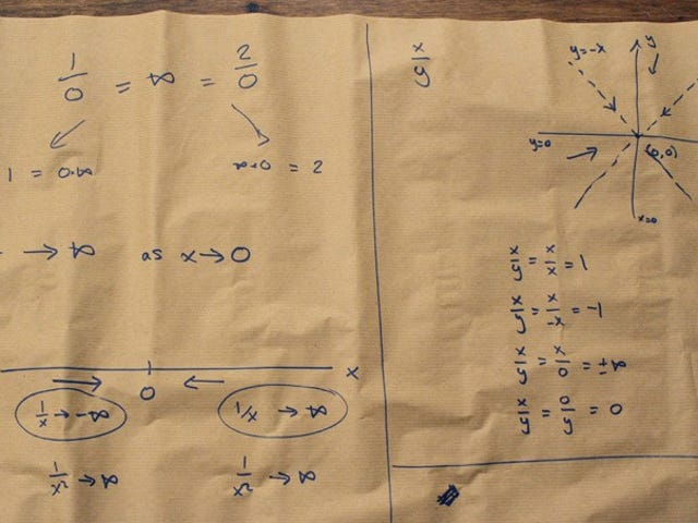 Calculatrice mécanique vintage montre pourquoi c'est une mauvaise idée de diviser par zéro