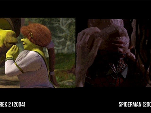 Scenes from Shrek Side-By-Side With Scenes of the Movies Shrek Makes Fun Of