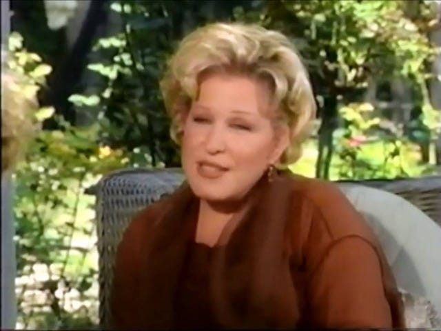 Here's Bette Midler in 1991 Talking About Geraldo Rivera Drugging and Groping Her Without Consent