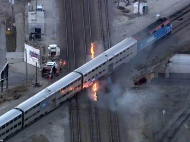 Chicago er så latterligt koldt, at jernbanesporene skal være i brand for at holde togene bevægelige