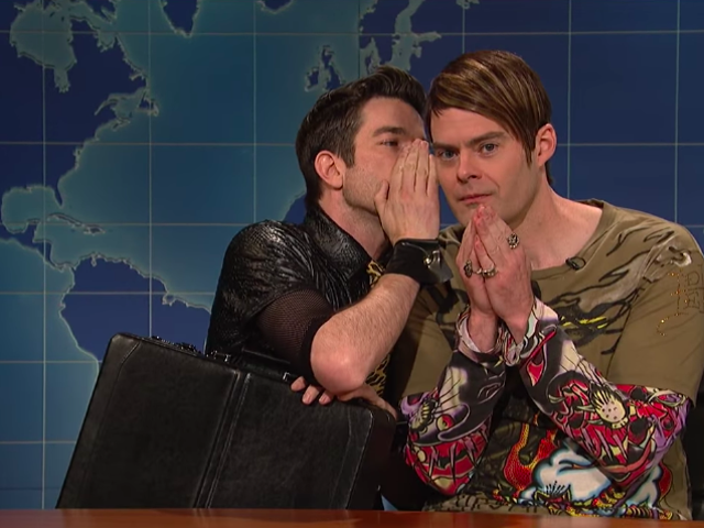 Here's what John Mulaney said to make Bill Hader break character on <i>SNL</i>