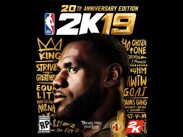 LeBron James Is NBA 2K19's Cover Star