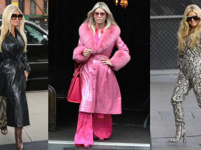 Jessica Simpson Is Giving a Masterclass on How to Dress for Your Book Tour