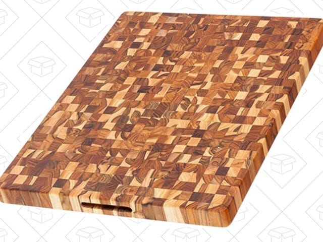 Start Chopping On This Beautiful, End Grain Cutting Board For $75