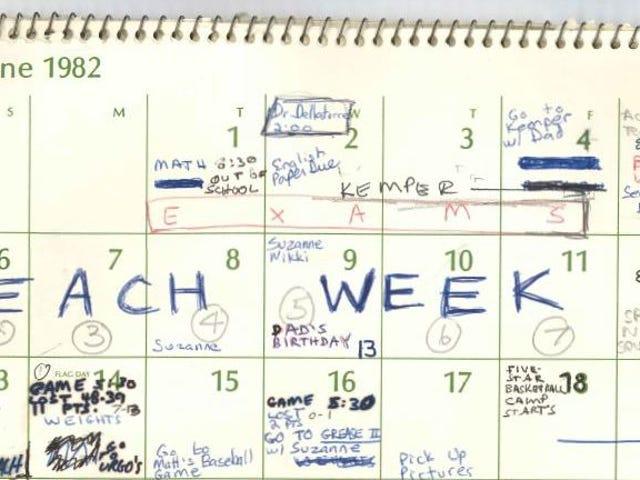 Well, Here's Brett Kavanaugh's Calendar From the Summer of 1982