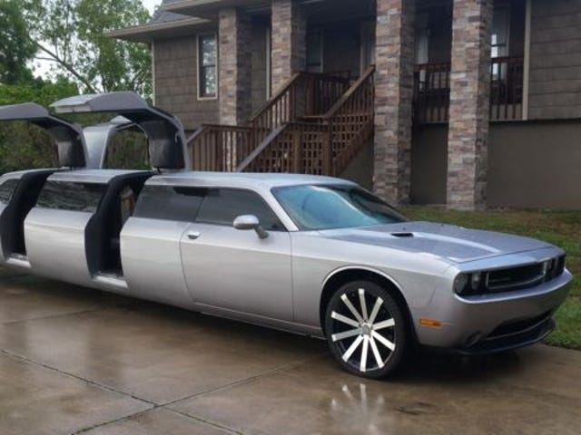Dual Gullwing Challenger Limo Has The Same Aftermarket Wheels As My Amanti