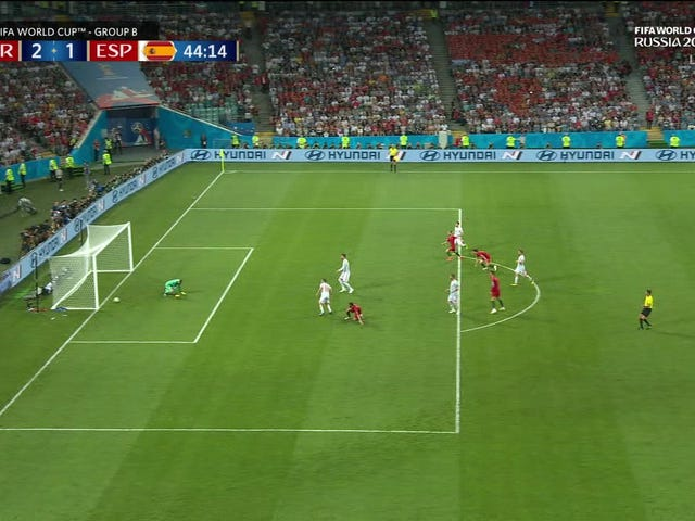 Ugly Boner Gifts Ronaldo His Second Goal Of The World Cup