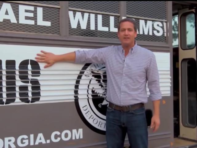 Bigot Bus Breaks Down Before Bashing of Immigrants Begins