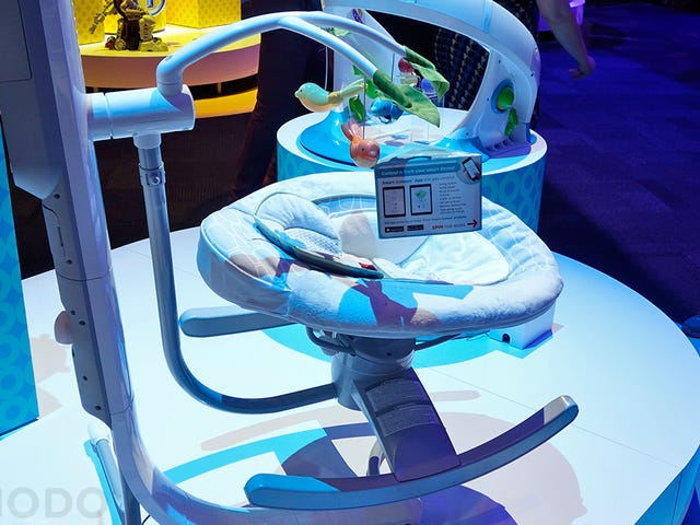 This Cradle Lets You Remotely Rock Your Baby To Sleep From Your Phone