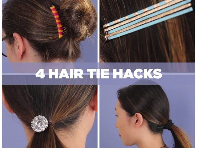 Turn an Old Button into an Embellished Hair Tie