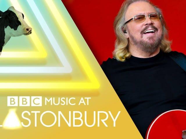 Så Barry Gibb spillede Glastonbury 2017