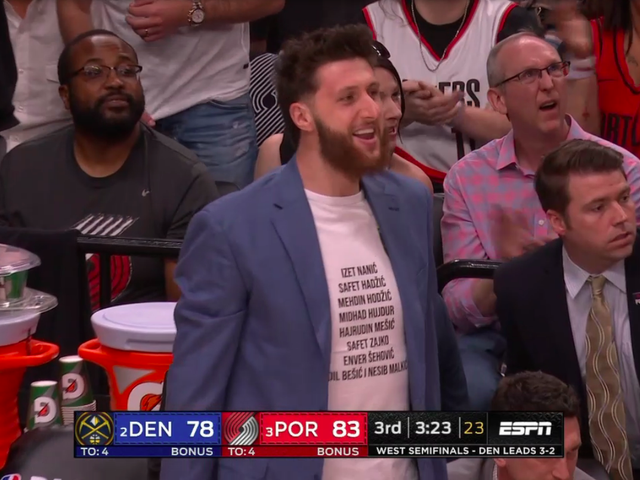 Jusuf Nurkic Wears T-Shirt With List Of Combatants Who Died In Bosnian War