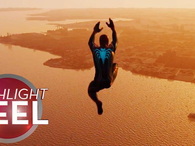 Spider-Man drar av perfekt dykk