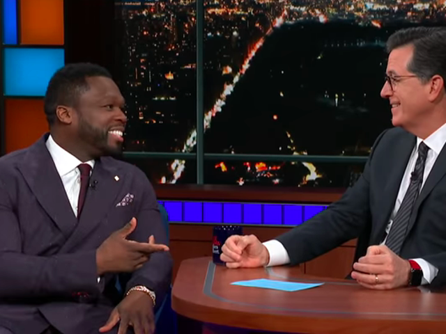50 Cent beefs with Stephen Colbert over Helen Mirren, explains his discount beef with Ja Rule