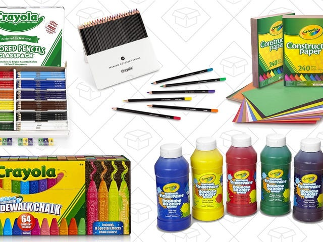 Amazon's Gold Box Is Overflowing With Crayola Art Supplies