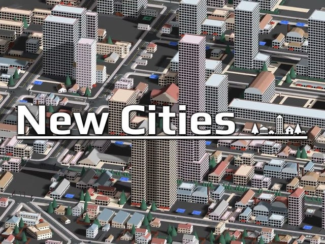 This is New Cities, an upcoming city-builder for the PC with a strong focus on road networks and the