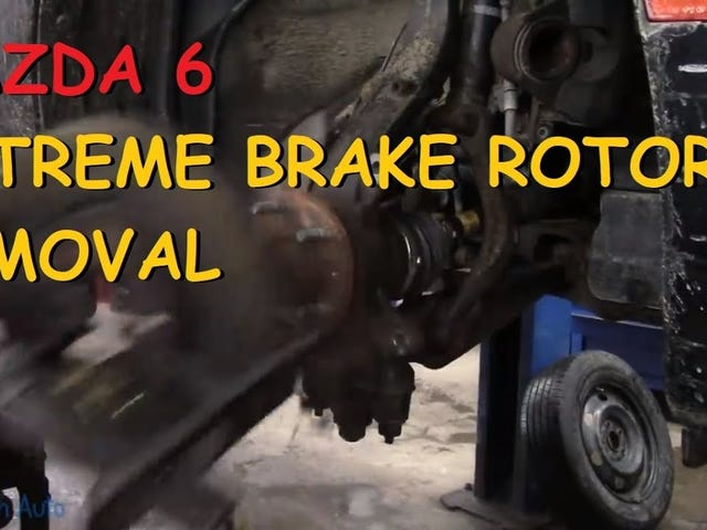 Watch Eric O. Fight This Rusty Brake Rotor so You Don't Have To