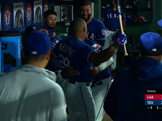 Adrian Beltre Crushes Homer, Gets His Head Touched, Reacts Accordingly