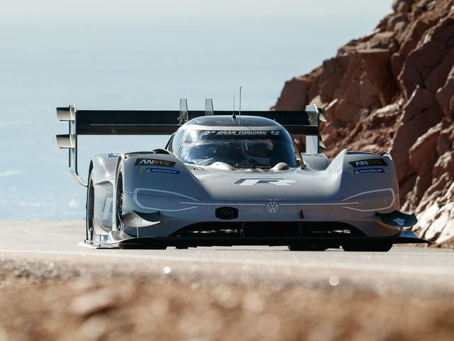 Volkswagen's Electric Car Just Broke The All-Time Record At Pikes Peak