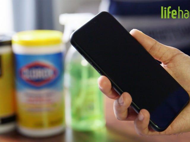 Må og gør ikke ved at desinficere din telefon