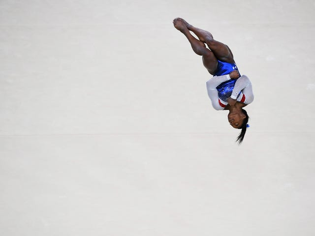 Simone Biles Makes The Absurd Look Routine