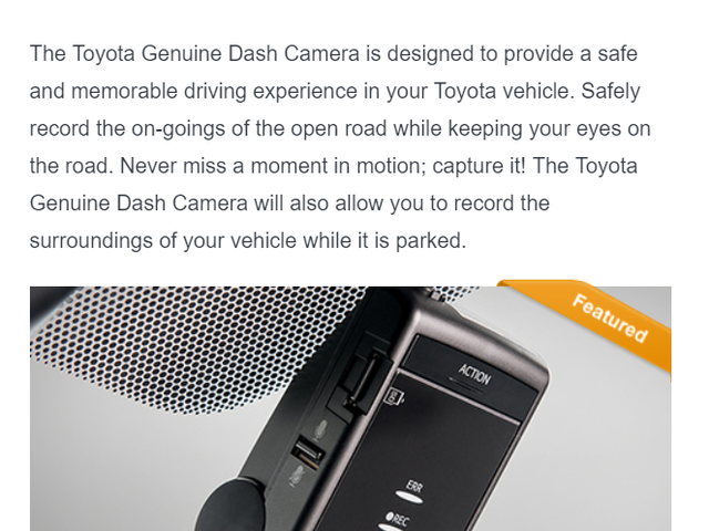 Your pricing may be a little off, Toyota