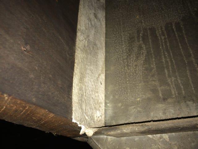 Old house, asbestos, crappy workmanship