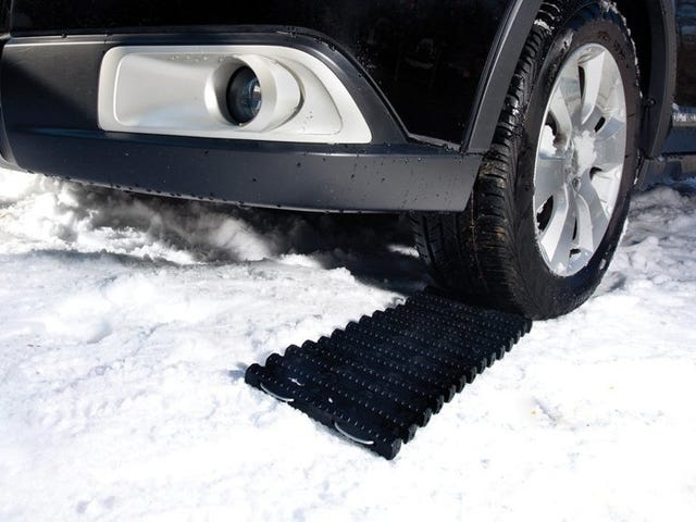Get a Grip In Your Driveway With This Snow Joe Traction Mat