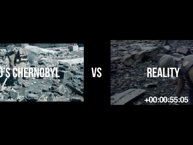 Semua orang pasti tahu tentang HBO trasladó las imágenes reales a la serie Chernobyl