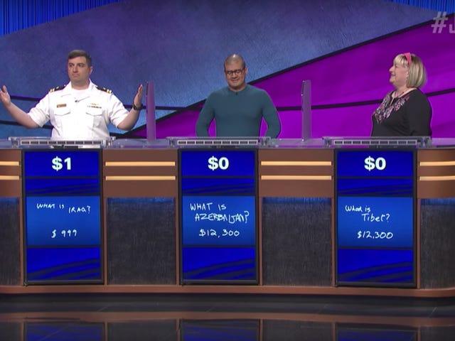 <i>Jeopardy!</i>  Dummy bat encore plus grand Dummies avec 1 $