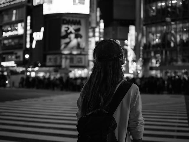 Headphones in Shibuya