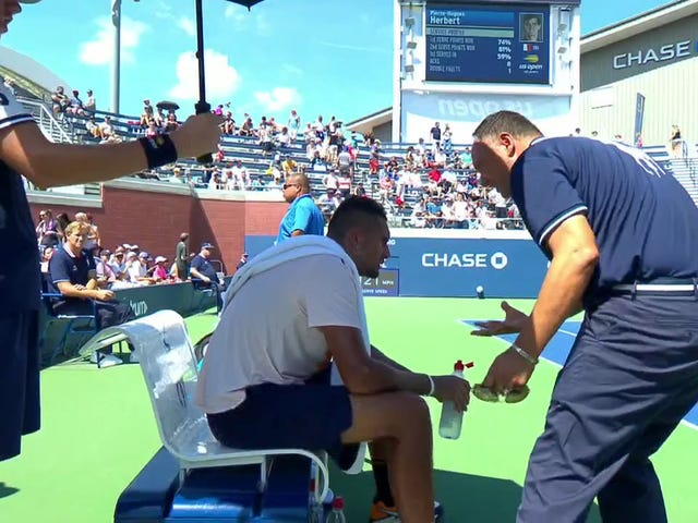 Umpire Who Gave Nick Kyrgios Pep Talk Gets Suspended For Two Tournaments Without Pay