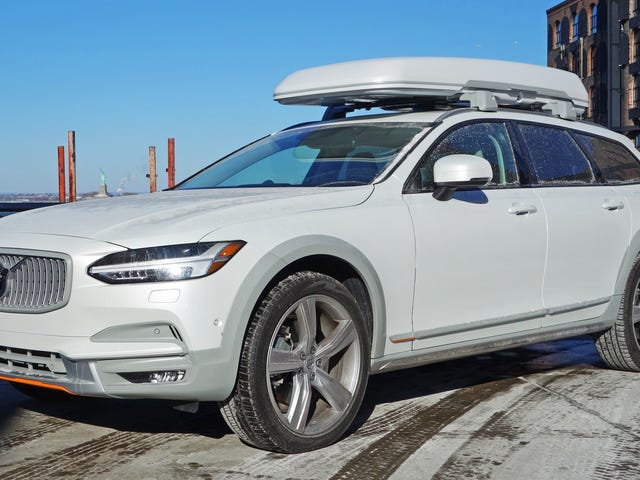 The Volvo V90 Cross Country Has Orange Seatbelts and a $3,300 Cargo Box and I Love It