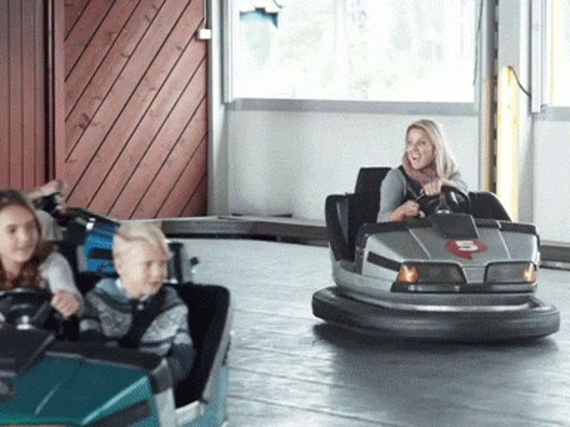 This is what happens when you put smart brakes in bumper cars