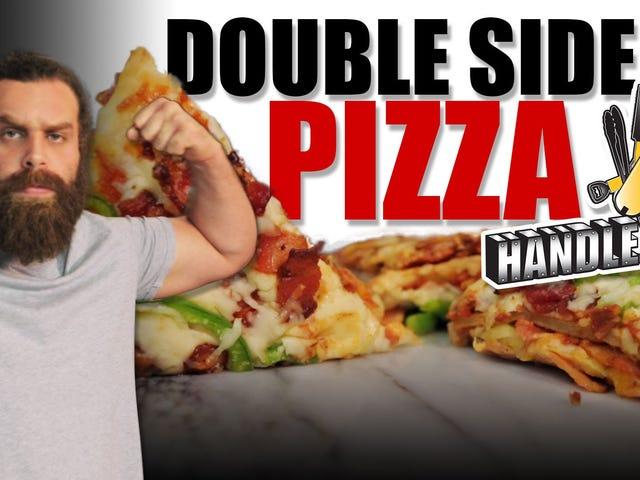 Cette vidéo montre comment préparer la légendaire pizza à double face