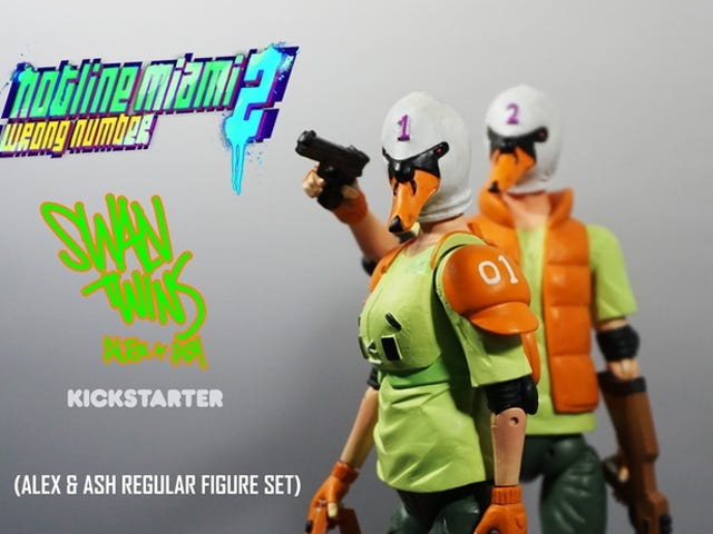 <i>Hotline Miami 2</i> Swans On Kickstarter, Komplett med motorsåg, gevär och mord