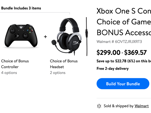 Buy An Xbox One S, Pick a Bonus Controller and Headset For Free