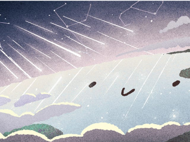 Today's Google Doodle: It's the Gemini Meteor Shower