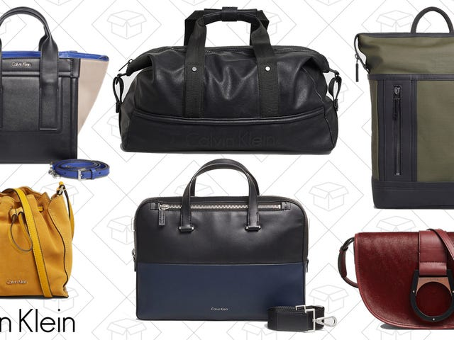 Calvin Klein is Taking an Extra 50% Off Bags for Men and Women