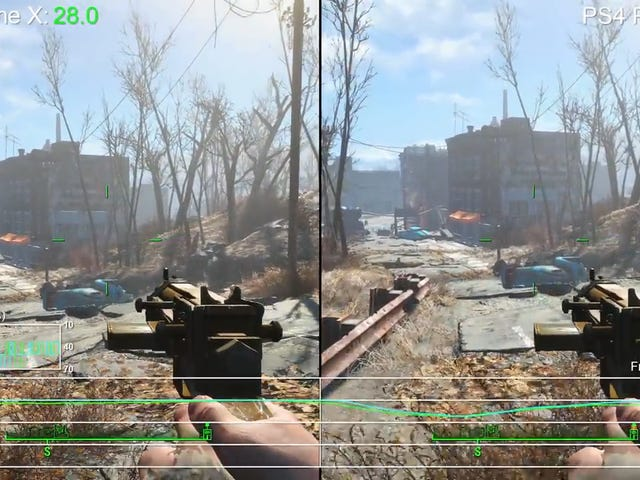 Fallout 4 Looks Better On Xbox One X But Runs Slightly Smoother On PS4 Pro