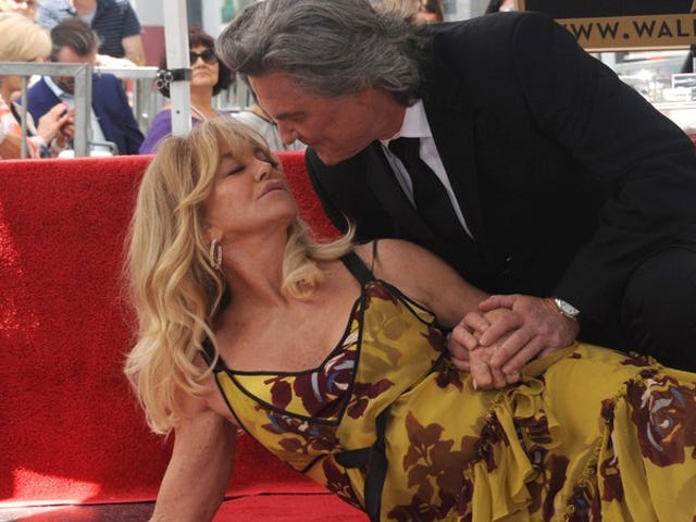 Goldie Hawn and Kurt Russell got matching Walk of Fame stars today