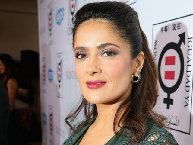 Salma Hayek Gets Award for Women's Equality, Says She's Not a Feminist