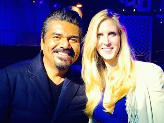 Here Are George Lopez and Ann Coulter Making Some Weird Racist Jokes
