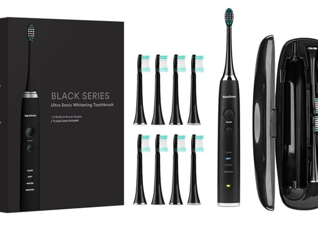 Get The AquaSonic Black Series Toothbrush Kit For Just $34 (75% Off)