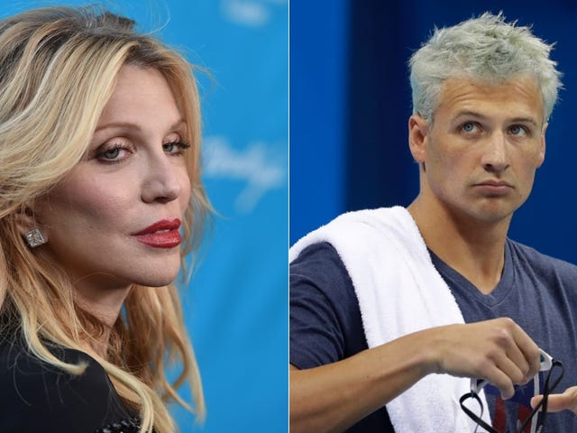Courtney Love Scolds Ryan Lochte for Being Dumb